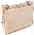 Luxury Accessories:Bags, Heritage Vintage: Chanel Beige Quilted Lambskin Leather Bag. ...