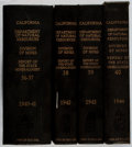 Books:Science & Technology, California Journal of Mines and Geology. Vol. 36-40. State Division of Mines, 1940-1944. First edition, first printi... (Total: 4 Items)