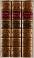 Books:Fine Bindings & Library Sets, Henry Hallam. Introduction to the Literature of Europe. Vol. I-III. Murray, 1854. Fourth edition. Contemporary t... (Total: 3 Items)