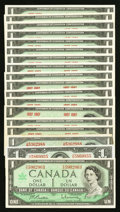Canadian Currency: , Canadian $1s.. ... (Total: 18 notes)