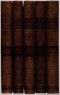 Books:Literature Pre-1900, Victor Hugo. Works. Vol. I-V. Collier, [n. d.]. Half leatherwith sunned spines. Bio-predation with cloth boards... (Total: 5Items)