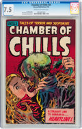 Golden Age (1938-1955):Horror, Chamber of Chills #23 (Harvey, 1954) CGC VF- 7.5 Cream to off-whitepages....