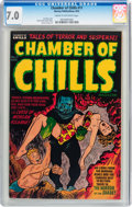 Golden Age (1938-1955):Horror, Chamber of Chills #11 (Harvey, 1952) CGC FN/VF 7.0 Cream tooff-white pages....