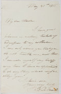 Autographs:Non-American, Paul Belloni du Chaillu (1831-1903, French-American Explorer).Autograph Letter Signed. Very good. First European to confirm...