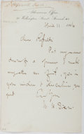 Autographs:Authors, William Dixon (1821-1879, British Historian). Autograph Letter Signed. Very good....