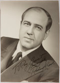 Autographs:Celebrities, Richard Crooks (1900-1972, American Tenor). Signed and InscribedPhotograph. Very good....