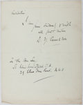 Autographs:Artists, Sir David Young Cameron (1865-1945, British Artist). AutographLetter Signed. Very good....