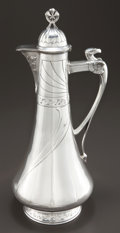 Silver Holloware, Continental:Holloware, A GERMAN JUGENDSTIL SILVER EWER . Maker unknown, 1898-1908. Marks:(left facing kokoshnik 84, P), M. MANKIELEWICZ VARSOVIE...