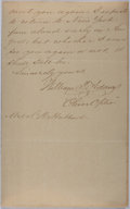 Autographs:Authors, William Taylor Adams (1822-1897, American Writer and Massachusetts State Legislator). Autograph Letter Signed. Very good....