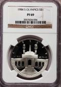 Modern Issues, 1984-S $1 Olympic Silver Dollar PR69 NGC. NGC Census: (3150/91).PCGS Population (3203/44). Mintage: 1,801,210. Numismedia ...