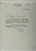 Autographs:Authors, Catherine Drinker Bowen (1897-1973, American Writer). Typed Letter Signed. Very good....