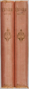 Books:Literature Pre-1900, Lew Wallace. Ben-Hur. Vol. I & II. Harper &Brothers, 1892. Later edition. Silk bindings with light rubbing and... (Total: 2 Items)