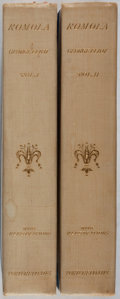 Books:Literature Pre-1900, George Eliot. Romola. Vol. I & II. Porter & Coates, 1890. Later edition. Minor rubbing and toning. Hinges cracke... (Total: 2 Items)