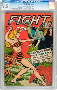 Fight Comics #53 (Fiction House, 1947) CGC VF+ 8.5 Cream to off-white pages