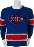 Hockey Collectibles:Uniforms, 1940's Boston Olympics Game Worn Jersey....