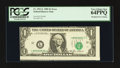 Error Notes:Miscellaneous Errors, Fr. 1913-L $1 1985 Federal Reserve Note. PCGS Very Choice New 64PPQ.. ...