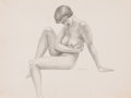 Pin-up and Glamour Art, AMERICAN ARTIST (20th Century). Group of Three Nudes. Pencilon paper. 12 x 8.75 in. (each). Not signed. ... (Total: 3 Items)