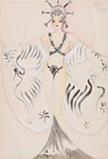 Pin-up and Glamour Art, AMERICAN ARTIST (20th Century). Japan Nation Parade costumedesign, Lester Design Company, circa 1930s. Mixed media on p...