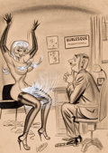 "Pin-up and Glamour Art, BILL WARD (American, 1919-1998). ""It's a Funny Thing MissDebere- But No Matter How Many Times I Audition Girls- ItAlways..."