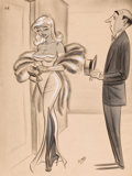 """Pin-up and Glamour Art, BILL WARD (American, 1919-1998). """"I Won't Ask You to Come inTonight, Mr. Hastings, My Old Diary is Completely Filled.Tom..."""