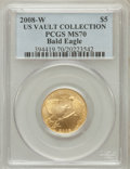 Modern Issues, 2008-W G$5 Bald Eagle MS70 PCGS. Ex: US Vault Collection. PCGSPopulation (474). NGC Census: (894). Numismedia Wsl. Price ...