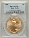 Modern Bullion Coins: , 2000 G$50 One-Ounce Gold Eagle MS70 PCGS. PCGS Population (32). NGCCensus: (903). Numismedia Wsl. Price for problem free ...