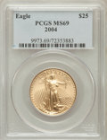 Modern Bullion Coins, 2004 G$25 Half-Ounce Gold Eagle MS69 PCGS. PCGS Population(31621/873). NGC Census: (7452/2598). Numismedia Wsl. Price for...