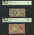 Military Payment Certificates:Series 641, Series 641 $MPCs PCGS Graded.. ... (Total: 4 notes)