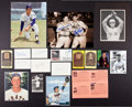 Autographs:Photos, Baseball Legends Signed Signed Photos, Index Cards, And PostcardsLot Of 18....