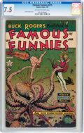 Golden Age (1938-1955):Science Fiction, Famous Funnies #215 (Eastern Color, 1955) CGC VF- 7.5 Off-white towhite pages....