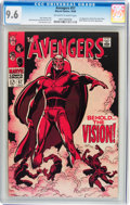 Silver Age (1956-1969):Superhero, The Avengers #57 (Marvel, 1968) CGC NM+ 9.6 Off-white to white pages....