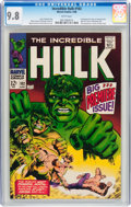 Silver Age (1956-1969):Superhero, The Incredible Hulk #102 (Marvel, 1968) CGC NM/MT 9.8 White pages....