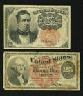 Fractional Currency:Fifth Issue, 10¢ and 25¢ Notes.. ... (Total: 2 notes)
