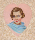 Pin-up and Glamour Art, MILA BAINE (American, 20th Century). Portrait of RubyKeeler. Pastel on paper. 21.5 x 19.25 in.. Signed lower center....