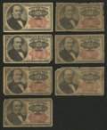 Fractional Currency:Fifth Issue, 25¢ Fifth Issue Seven Examples Good or Better.. ... (Total: 7notes)