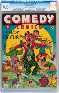 Comedy Comics #9 (Timely, 1942) CGC VF/NM 9.0 Cream to off-white pages