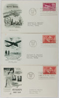 Books:Americana & American History, [First Day Covers]. Group of Three Related to Aviation. 1949-1953.Fine. A first day cover is a stamped envelope or card whi...