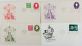 Books:Americana & American History, [First Day Covers]. Group of Four Related to Stamp Collecting.1950-1972. Fine. A first day cover is a stamped envelope or c...