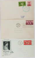 Books:Americana & American History, [First Day Covers]. Group of Three Related to World Leaders. 1939,1945, 1953. Fine. A first day cover is a stamped envelope...