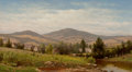 Fine Art - Painting, American:Antique  (Pre 1900), CHARLES W. KNAPP (American, 1823-1900). View Near Williamstown,Berkshire County, Massachusetts. Oil on canvas. 20 x 36 ...
