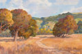 Fine Art - Painting, American:Contemporary   (1950 to present)  , DON MUNZ (American, b. 1931). Fall Landscape with CountryRoad. Oil on canvas. 20 x 30 inches (50.8 x 76.2 cm). Signedl...