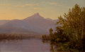 Fine Art - Painting, American:Antique  (Pre 1900), EDWARD W. NICHOLS (American, 1819-1871). Mount Chocorua, NewHampshire. Oil on canvas. 8-1/4 x 13-1/4 inches (21.0 x 33....