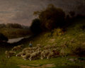 Fine Art - Painting, American:Antique  (Pre 1900), CHARLES T. PHELAN (American, b. 1840). Starting Homeward,1889. Oil on canvas. 27 x 34 inches (68.6 x 86.4 cm). Signed a...