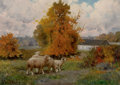 Fine Art - Painting, American:Other , CHARLES T. PHELAN (American, b. 1840). In the Meadows. Oilon canvas. 10 x 14 inches (25.4 x 35.6 cm). Signed lower left...