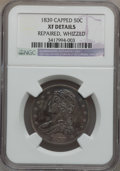 Reeded Edge Half Dollars: , 1839 50C -- Whizzed, Repaired -- NGC Details. XF. NGC Census:(15/314). PCGS Population (37/326). Mintage: 1,392,976. Numis...