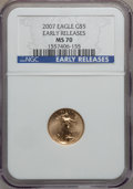 Modern Bullion Coins, 2007 $5 Tenth-Ounce Gold Eagle Early Releases MS70 NGC. NGC Census:(0). PCGS Population (24). Numismedia Wsl. Price for p...