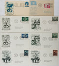Books:Americana & American History, [First Day Covers]. Group of Eight Related to The United Nations.1951-1953. Fine. A first day cover is a stamped envelope o...