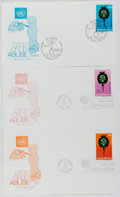 """Books:Americana & American History, [First Day Covers]. Group of Three Related to """"Stop Drug Abuse"""".1973. Fine. A first day cover is a stamped envelope or card..."""