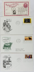 Books:Americana & American History, [First Day Covers]. Group of Four Related to Various AmericanSubjects. 1972-1973. Fine. A first day cover is a stamped enve...