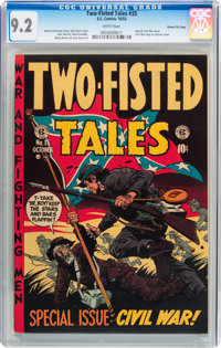 Two-Fisted Tales #35 Gaines File pedigree 2/11 (EC, 1953) CGC NM- 9.2 White pages